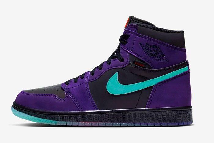 Air Jordan 1 Zoom Court Purple Left