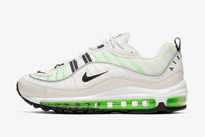 Nike Air Max 98 Phantom Electric Green Ah6799 115 Release Date Side