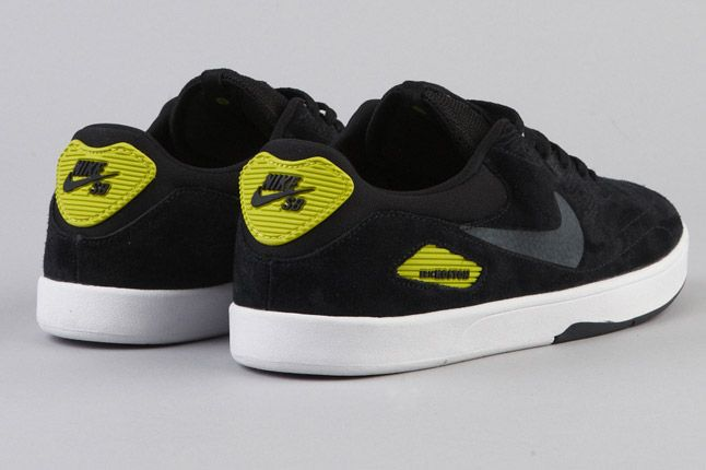 Nike Sb Koston Heritage Black Anthracite Atomic Green Quater Heels 1