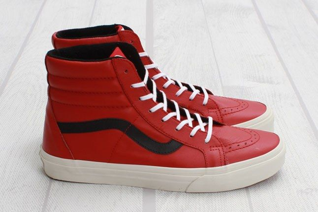Vans Sk8 Hi Reissue Leather Chili Pepper Profile 1