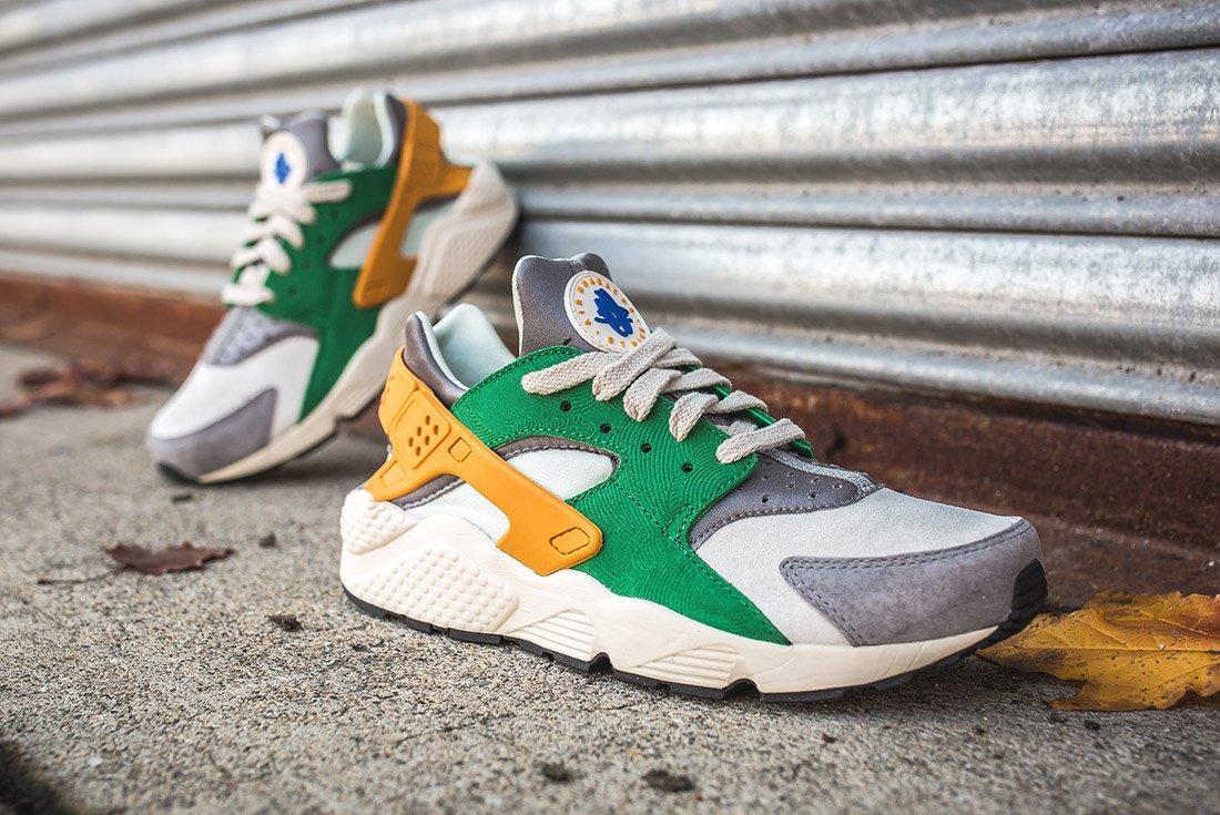 Nike Air Huarache Se Pine Green Gold Leaf7