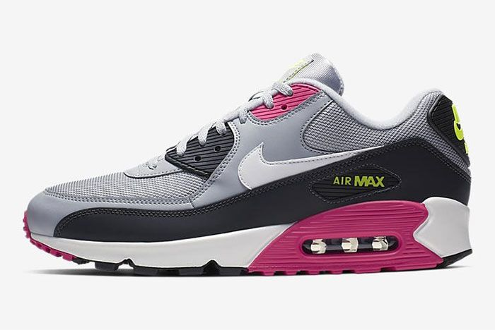 Nike Air Max 90 Pink Grey Volt Aj1285 020 Side3
