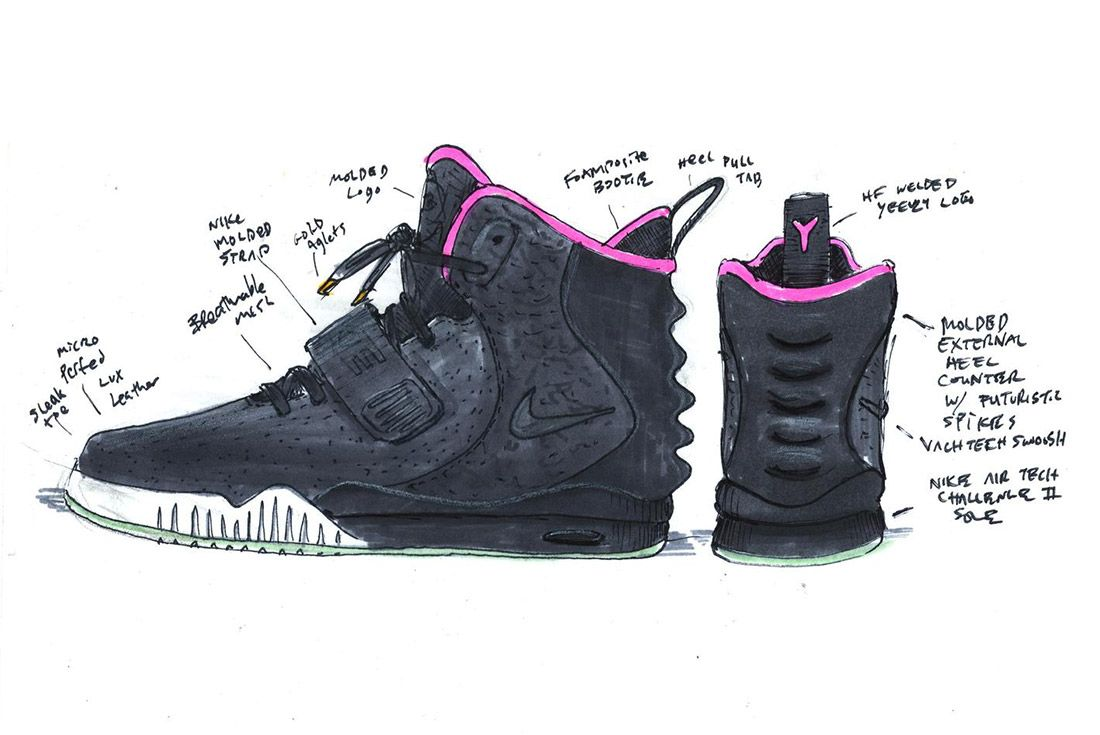 Material Matters History Of Yeezy Nike Design Sketch 2