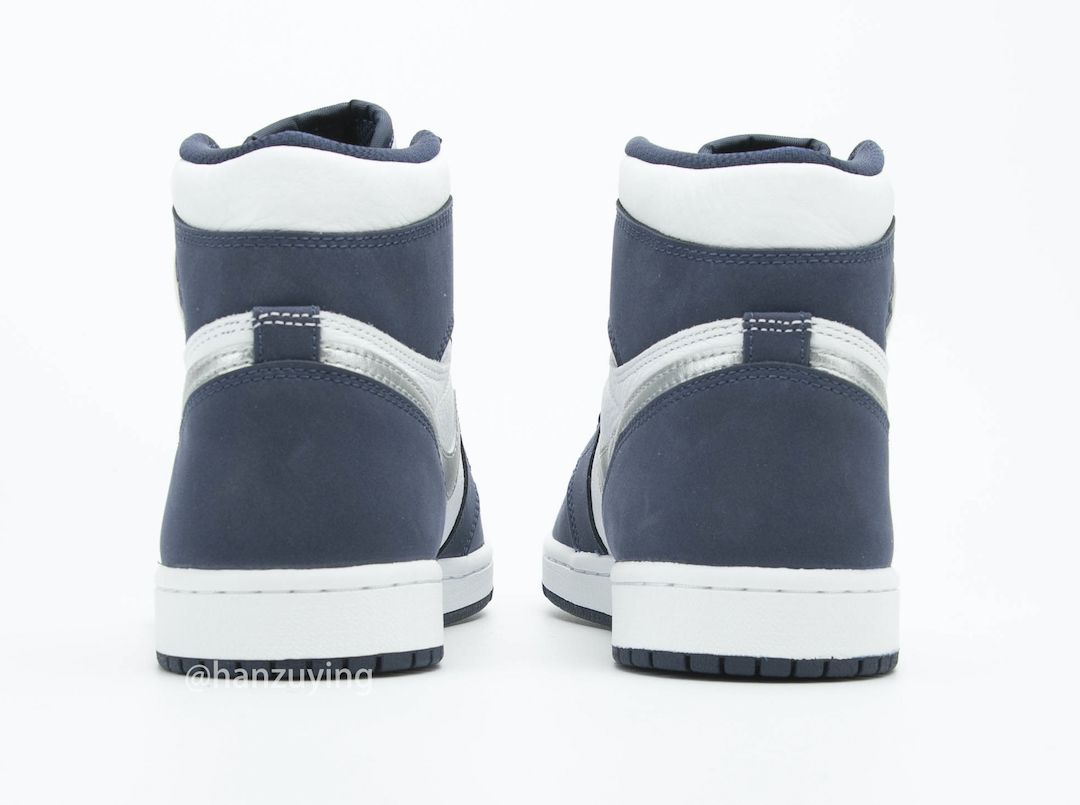 Air Jordan 1 CO JP Midnight Navy Heel