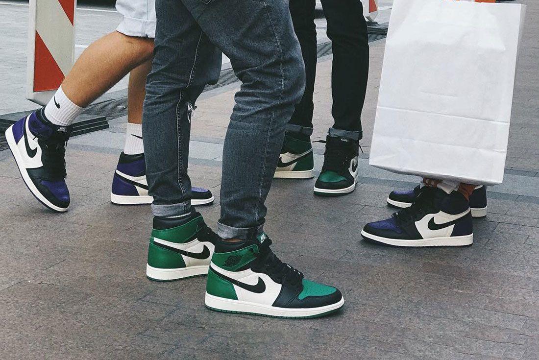 Air Jordan 1 Pine Green Court Purple Sneaker Freaker
