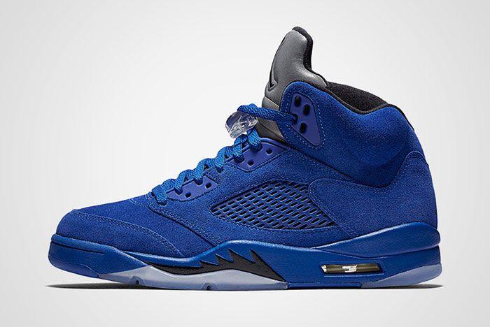 Air Jordan 5 Blue Suede Thumb