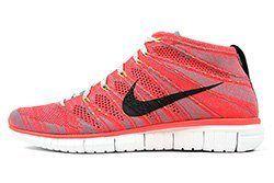 Nike Free Flyknit Chukka Bright Crimson Mineral Blue Thumb