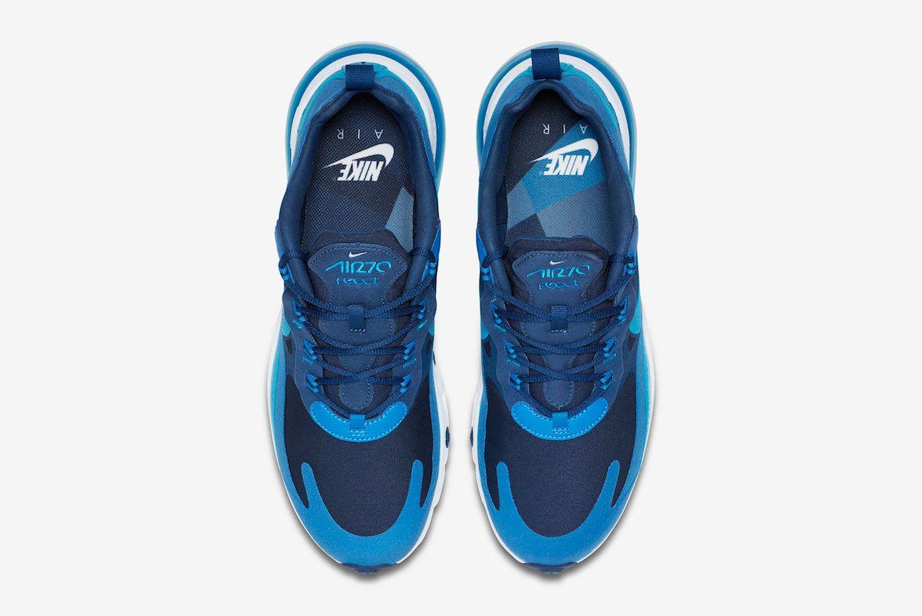 Nike Air Max 270 React Blue Void Ao4971 400 Top