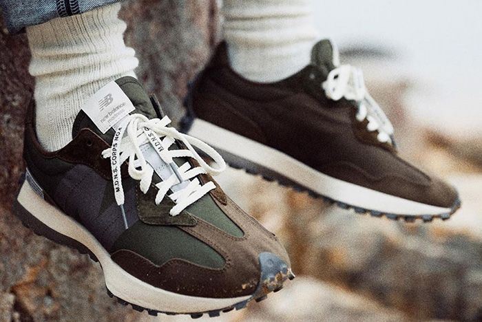 Madness New Balance 327 Brown On Foot