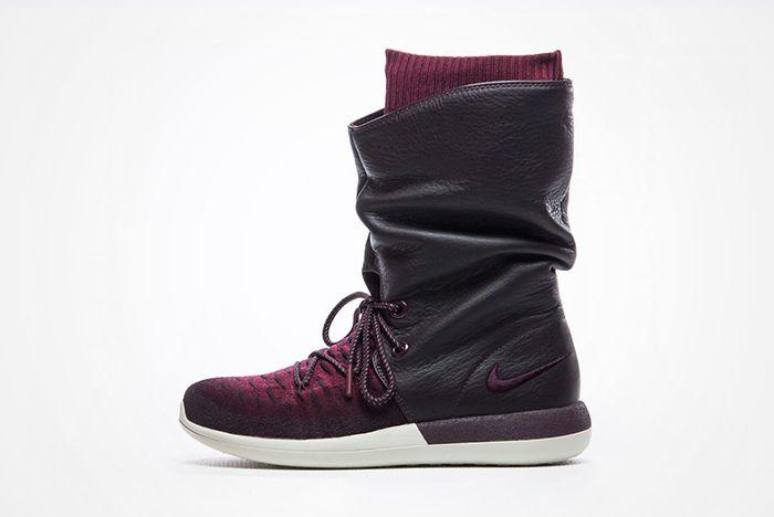 Nike Roshe Two Hi Flyknit Wmns Deep Burgundyfeature