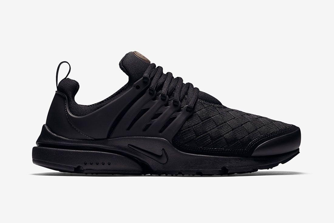 Nike Air Presto Woven Tripe Black 2
