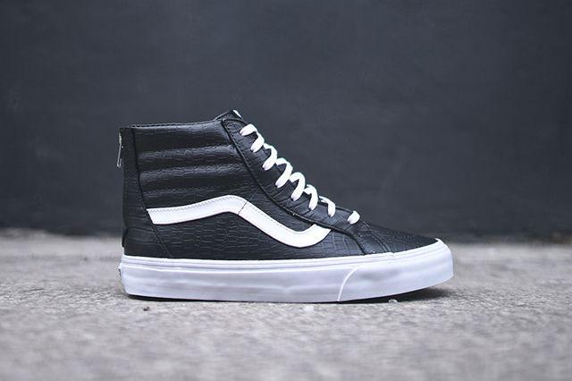 Vans Sk8 Hi Zip Ca Black Croc