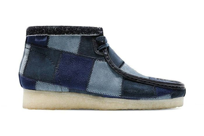 Bodega Clarks Wallabee Boot Patchwork Blue Release Date Lateral