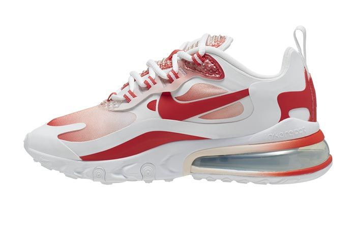 Nike Air Max 270 React Bubble Wrap Red Gradient Av3387 100 Lateral