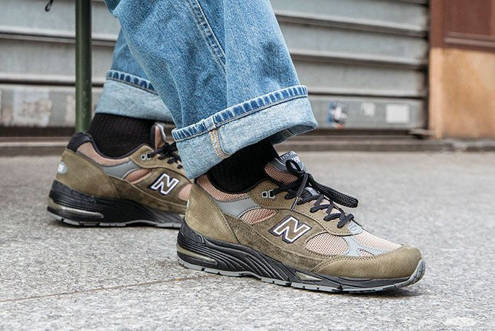 New Balance Made In Uk Season 2 991 Olive On Foot