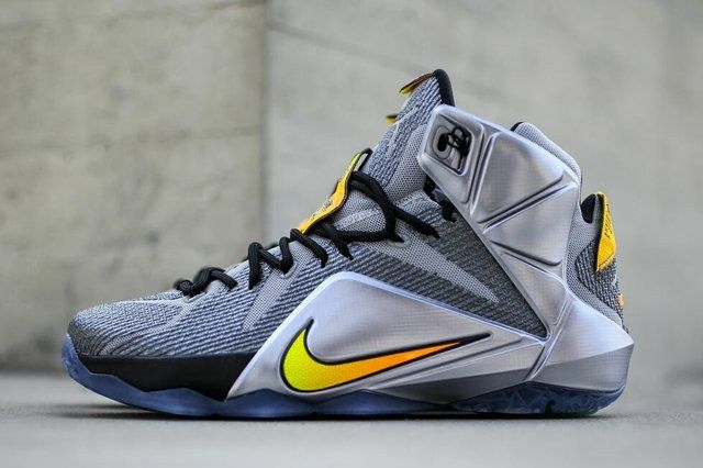 Nike Le Bron 12 Wolf Grey Bright Citrus 3