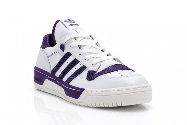 Purple Adidas Rivalry Lo Limited Edition Quater Front 1