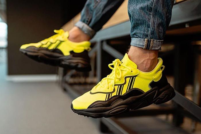 Adidas Ozweego Solar Yellow Eg7449 On Foot Kick