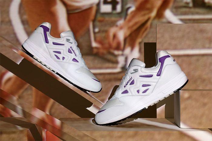 Karhu Legacy 96 Og Bright White Tillandsia Purple F806001 Release Date Pair