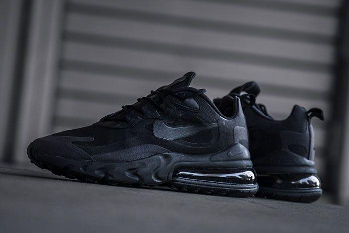 Nike Air Max 270 React Triple Black Ao4971 003 Outdoors