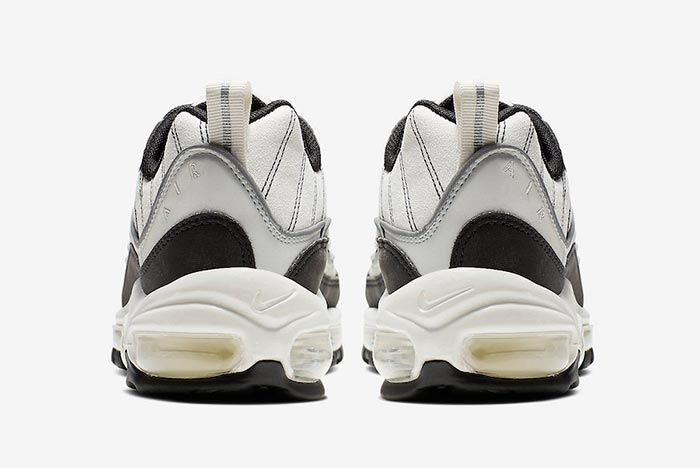 Nike Air Max 98 Sail Black Reflective Silver Heel