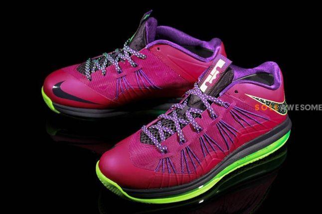 Nike Lebron X Low Pnkpurp Neongrn Hero 1