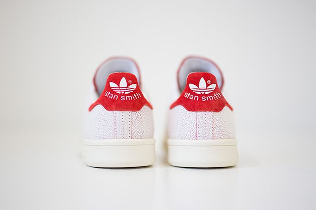 Adidas Stan Smith Cracked Leather White Red 2