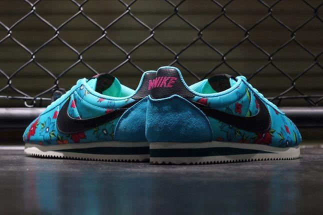Nike Classic Cortez Nylon Qs Aloha Pack Blue Heel 1