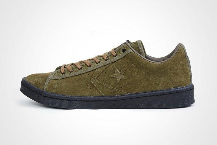Nexusvii Converse Pro Leather Ox Olive Green Suede Thumb