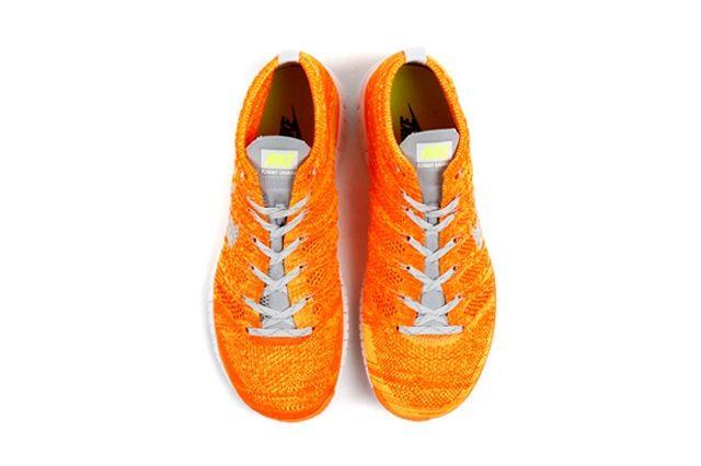Nike Free Flyknit Chukka Orange Volt 2