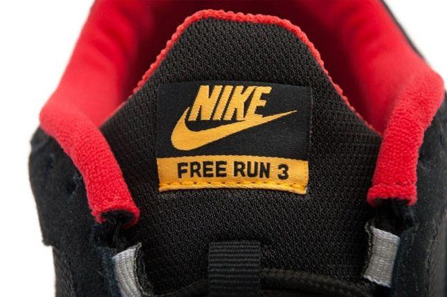 Nike Free Run 3 University Red Canyon Gold Side Tongue 1