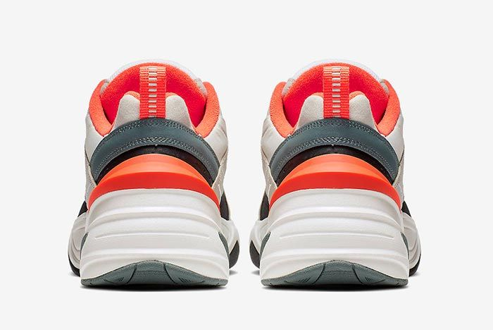 Nike M2 K Tekno Light Bone Turf Orange Heels