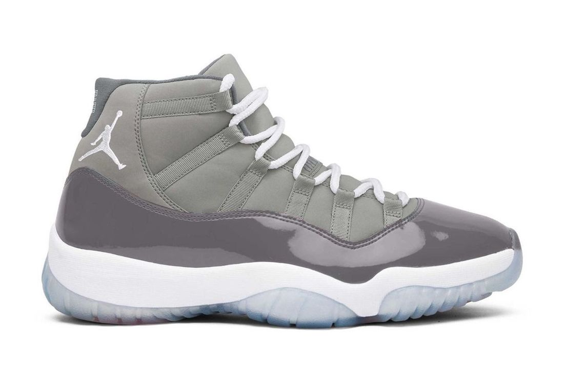 air jordan 11 cool grey side profile