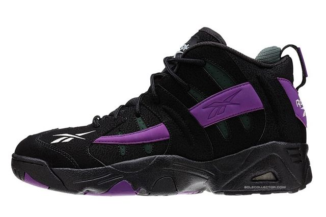 Reebok The Rail Black Purple Olive Reverse