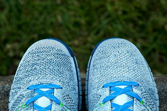 Nike Flyknit Chukka Blue Grey Green 4
