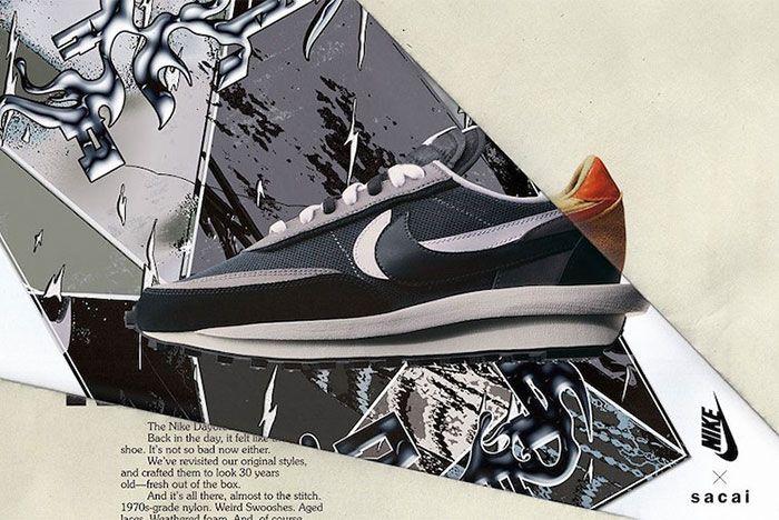 Sacai Nike Ld Waffle Black Left