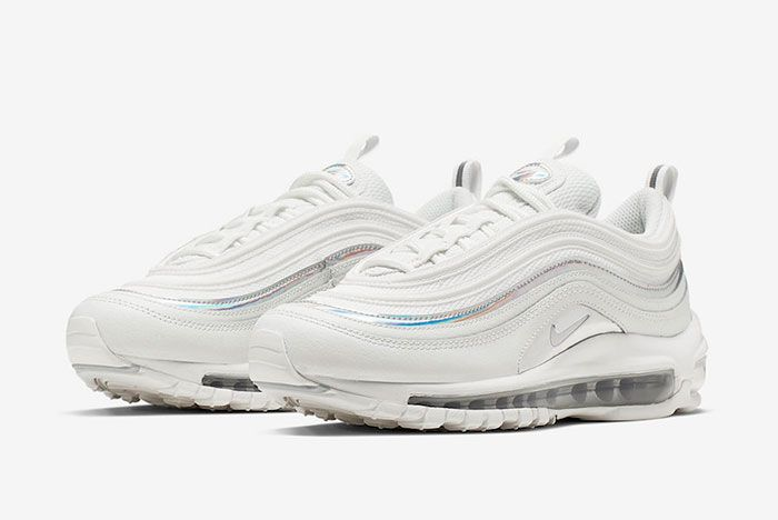 Nike Air Max 97 White Silver Iridescent Cj9706 100 Release Date Side7