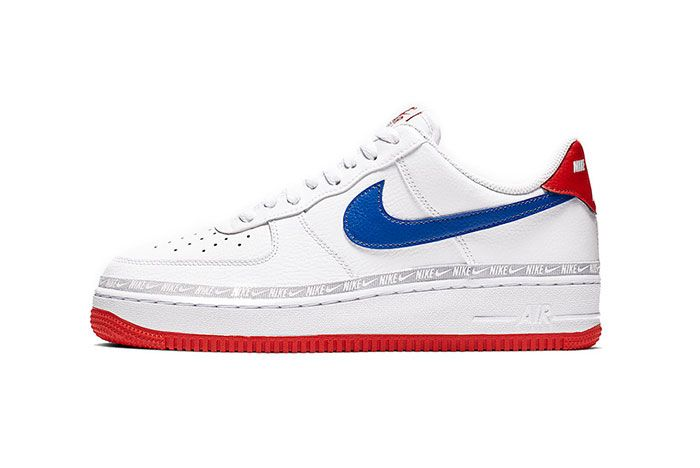 Nike Air Force 1 Red White Blue Side Shot 1