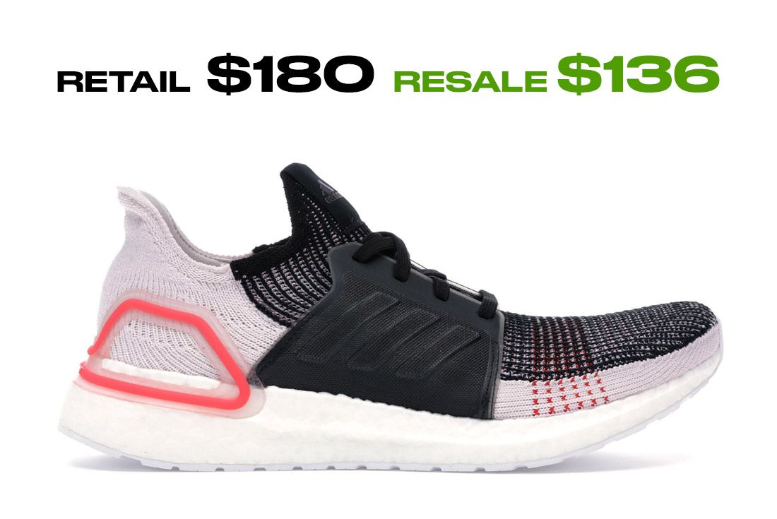 Adidas Ultra Boost 2019 Core Black Active Red Right Side Shot