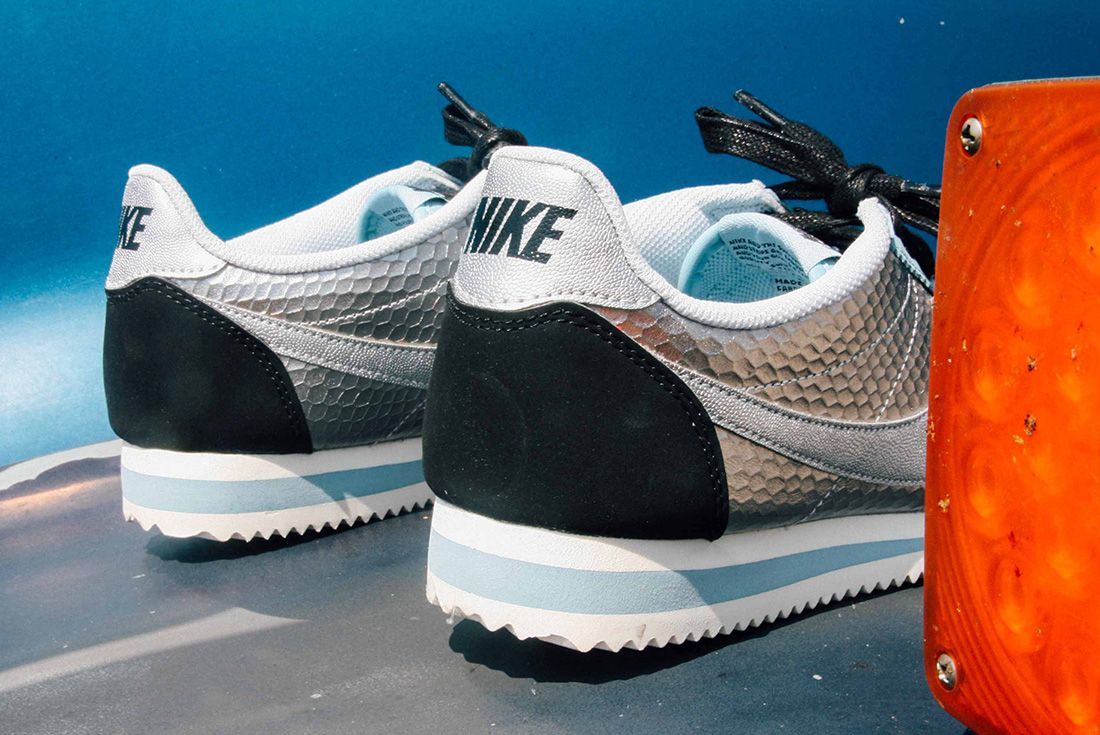 Nike Cortez Womens Metallic Silver 9