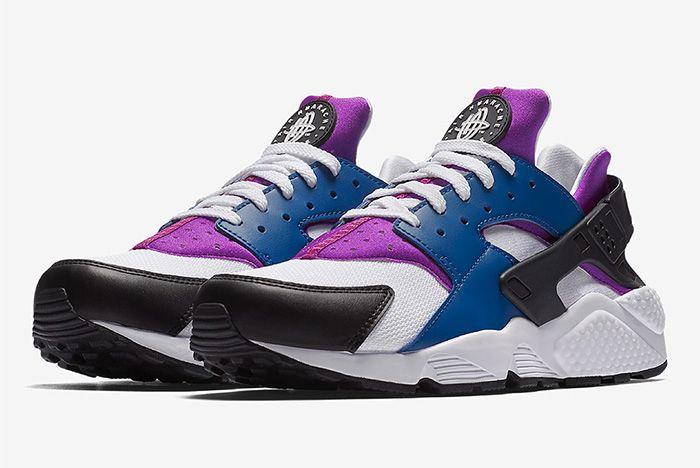 Nike Air Huarache Blue Jay White Hyper Violet Black 1