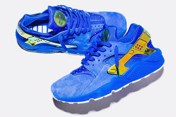 Undefeated Nike La Huarache Crenshaw Blue Gold 5