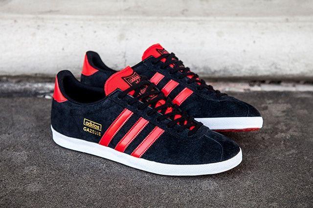 adidas Gazelle OG (Black/Red) - Sneaker Freaker