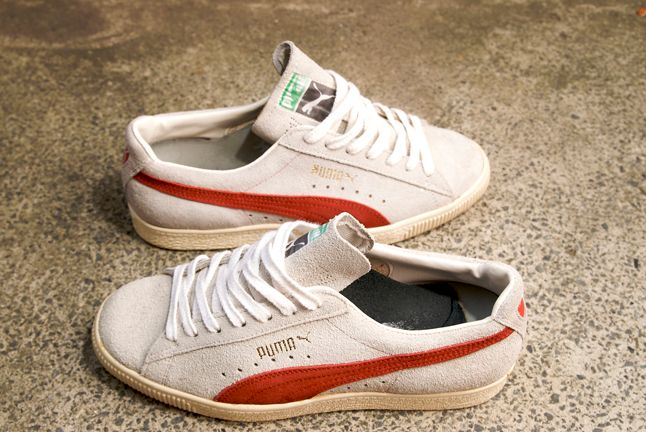 Puma Clyde Suede White Red 1