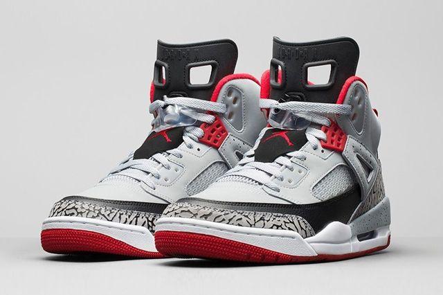 Air Jordan Spizike Wolf Grey Gym Red Bump 6 1