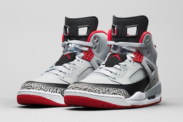 Air Jordan Spizike Wolf Grey Gym Red Bump 6 1