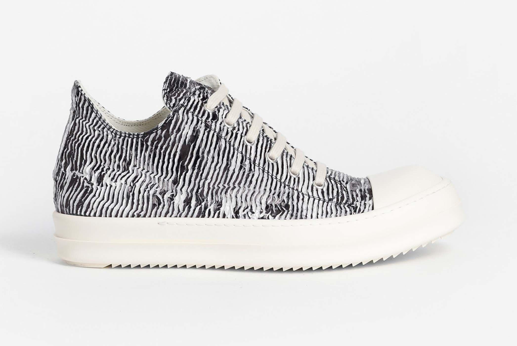 Rick Owens Drkshdw Zebra Trainer Low Release 001 Sneaker Freaker