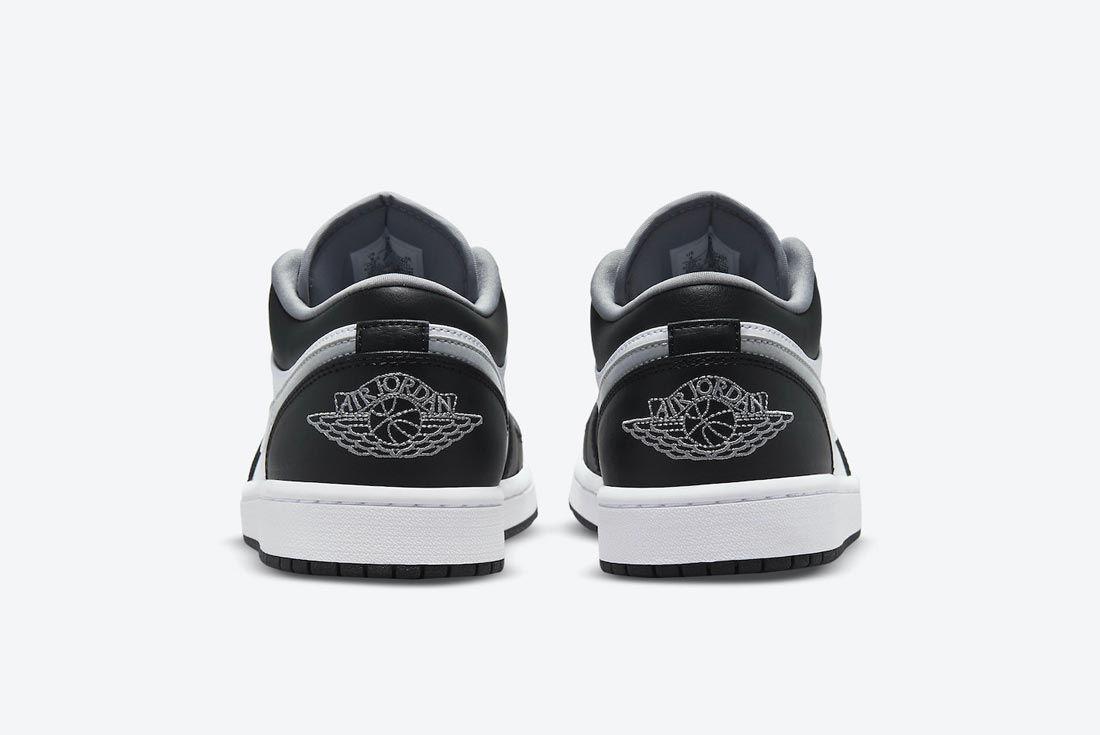 Air Jordan 1 Low Black/Medium Grey/White