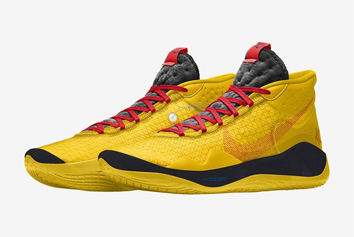 Nike Kd 12 Nike By You Yellow Left