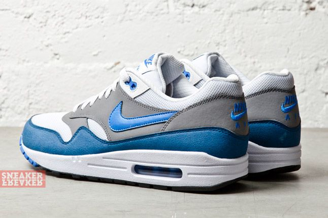 Nike Air Max 1 Essential Geyser Grey Pirze Blue 1